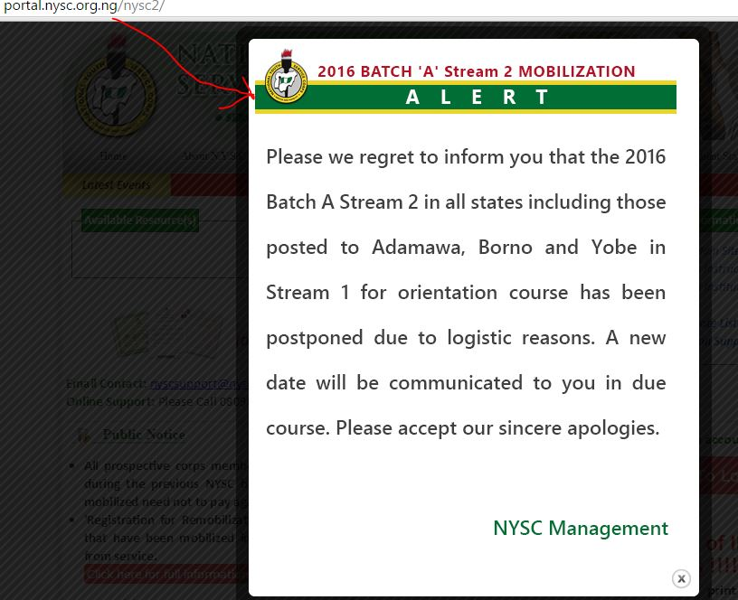 nysc postponed batch a stream b tru picture telecomsadvocate