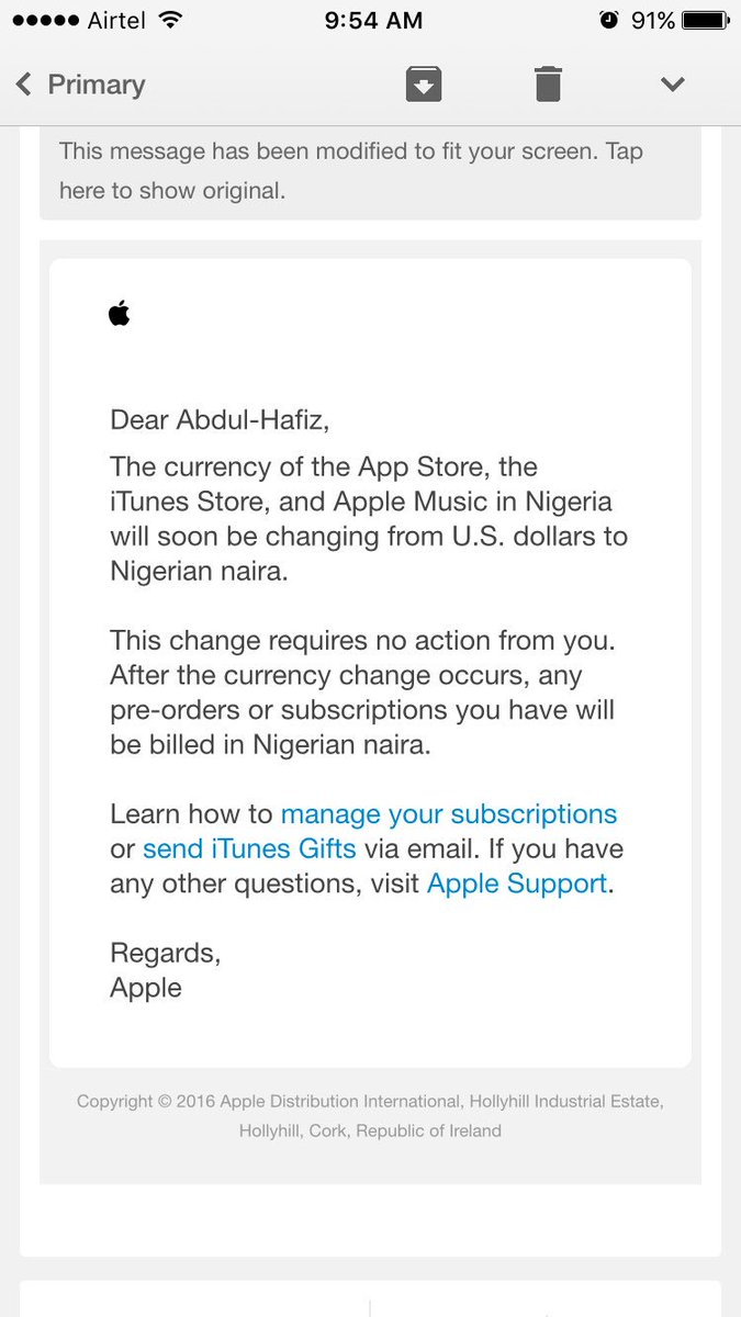 apple itunes to accept naira payment